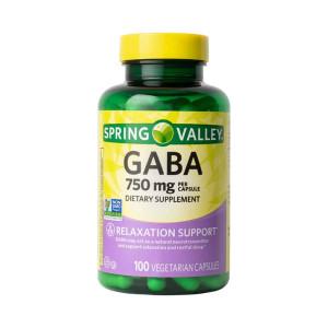 GABA, 750mg, Puritan's Pride, 100Cps