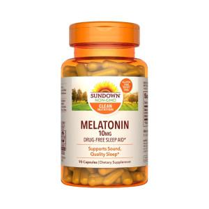 Melatonina, 10mg, Sundown Naturals, 90 Cps