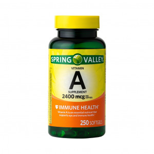 Vitamina A, 2400mcg, Spring Valley, 250 Softgels