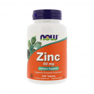 Zinco, 50mg, Now Foods, 250 Tbs